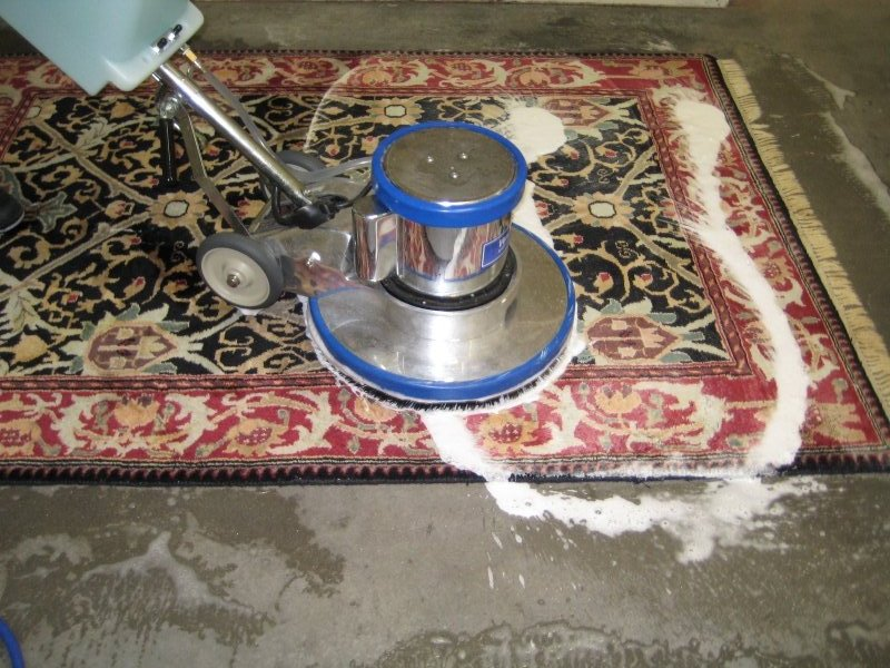 Using a pressure washer to clean an oriental rug